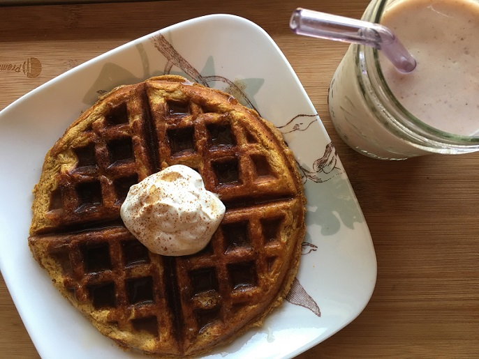 Squash Waffle and Fig Smoothie
